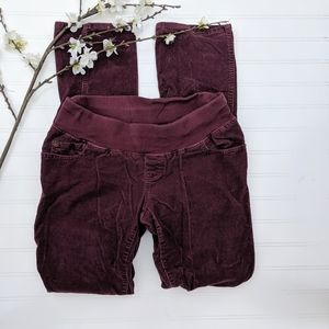 Liz Lange Maternity Burgundy Straight Cords